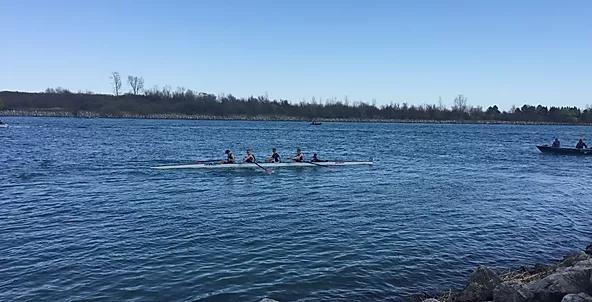 crew on river